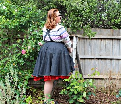 Louella DeVille Lurlene Denim Jump-Skirt 12